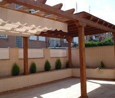 Pérgolas de Madera Ideas Para, Outdoor Structures, Patio, Oregon, Garden Shower, Gardens, Home, Beams, Parking Lot