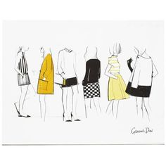 Garance Dor� Goods Friends Poster Black, White, Yellow, Orange 11 X 14... ($45) ❤ liked on Polyvore featuring home, home decor, wall art, posters, white wall art, paper wall art, white home accessories, yellow home accessories and white posters