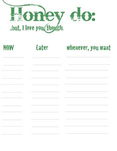 A List With Time Schedules Fun Honey Do Lists That Will Make Cs Little Less Painful Photos