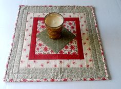 Winter Christmas Quilted Table Topper by ForgetMeNotQuilteds, $28.00