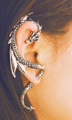 dragon ear wrap - cute idea, but i got it.. bulky and awkward