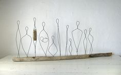 Large Wire Sculpture Titled Love Diversity. Made to by idestudiet
