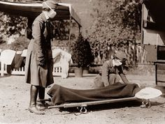 This photograph was taken in 1918, and shows two nurses treating a victim of the 1918 Flu Pandemic. The first confirmed case of this outbreak occurred on this day, March 11, in the year 1918. While this pandemic is largely forgotten today, it is estimated that 50 to 100 million people died worldwide, making it one of the most deadly pandemics in history.