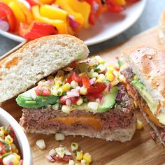 Wow your guests with this beautiful and delicious Mexican Juicy Lucy Recipe! They are made with lean beef and stuffed with cheddar cheese then topped with a homemade fire-roasted corn pico for a healthy, nutritious dinner on the grill. Burger Recipes, Grilling Recipes, Meat Recipes, Mexican Food Recipes, Real Food Recipes, Chicken Recipes, Chicken Meals, Dinner Recipes, Juicy Lucy
