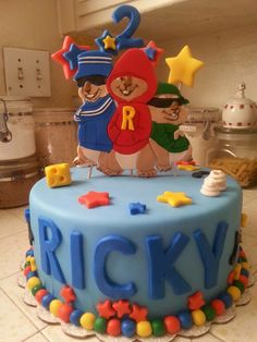 Alvin and the Chipmunks Cake by estella's cakery - estellascakery@hotmail.com