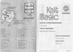 Maglieria Magica MATTEL, istruzioni multilingua...