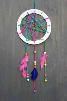 Easy Crafts Simple Kids Crafts New Simple and Chic Diy Dream Catcher An Easy . Easy Crafts For Kids, Summer Crafts, Crafts To Do, Diy For Kids, Arts And Crafts, Children Crafts, Quick Crafts, Summer Diy, Clay Crafts