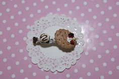 """This adorable, cuties and delicious hair accessories is handmade, sculpted by me is covered whip cream deco den and embellished with different polymer clay charms, they are from my new Gitana's Yummies collection, check others delicious items in my shop. This is a unique sweet treat and the best part is non preservative, non calories and is fat free. :)    Measure approximately: 2 3/4"""" length"""