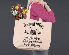 Procrastikniter | Personalized Canvas Tote Bag