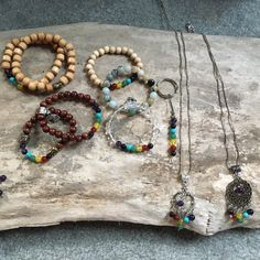 Lots of 7 Chakra Stone Healing jewellery being made at the MADE By Amanda Caskie studio as we speak.