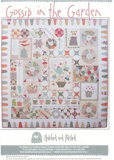 Amazon.com: Gossip in the Garden by Anni Downs of Hatched & Patched Quilt Pattern: Arts, Crafts & Sewing
