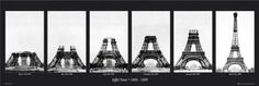 The Stages of Construction of The Eiffel Tower - The Eiffel Tower Built between 1888-1889