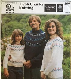 Excited to share the latest addition to my #etsy shop: 1970s Vintage Knitting Pattern for Fair Isle Sweaters. Jumper Knitting Pattern, Knitting Patterns, Chunky Yarn, Knit Fashion, Vintage Knitting, Favorite Color, 1970s, Christmas Sweaters, Lady
