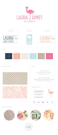Brand Styling Board for Laura James via Salted ink