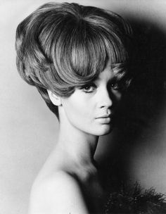 Big 60s hairstyle. Celia Hammond