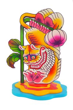 """Juxtapoz Magazine - Boy Kong Delivers Sculpted Funk with """"Artificial Lily"""" Graphic Design Illustration, Illustration Art, Collage Artists, Oui Oui, Illustrations And Posters, Psychedelic Art, Graffiti Art, Art Inspo, Art Reference"""