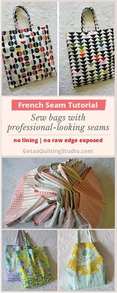 How to sew French seams- quick, easy, professional-looking finishing technique via @getagrama