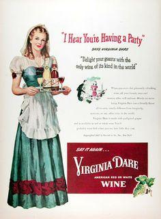 1947 Virginia Dare Wine original vintage ad