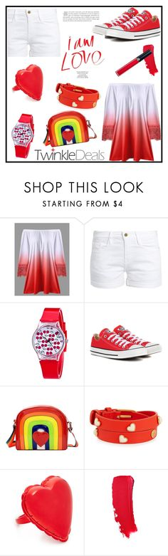 """Twinkldeals"" by tlb0318 on Polyvore featuring Frame, Converse, Tory Burch, Kate Spade and Armani Beauty"