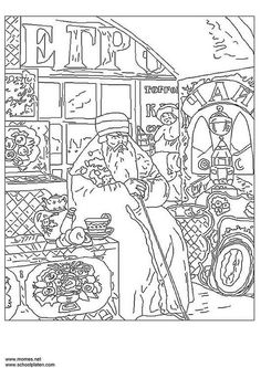 famous paintings coloring pages.html
