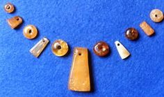 amber beads and pendants from Coppergate, York