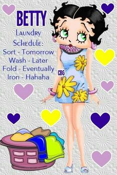 #Laundry During Finals time, haha feel like I never get to it #BettyBoop