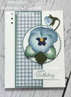 Birthday Cards For Women, Stamping Up Cards, Hand Painting Art, Paper Cards, Flower Cards, Pansies, Homemade Cards, Making Ideas, Cardmaking