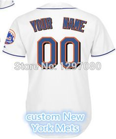 bbea10070 2014 Best Quality NY Mets Jersey Any Name And Number Jerseys White Grey  Black Custom Men s Baseball Jerseys