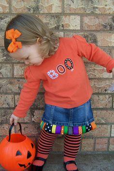 Halloween Ribbon Skirt -- so fun!