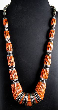Nepal |  Silver, Coral & Turquoise Necklace from Nepal |   Image copyright, Ann Porteus, Sidewalk Tribal Gallery, via Flickr