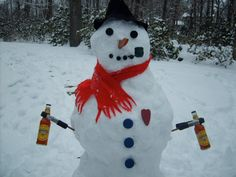 One cool snowman!