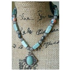 Check out this item in my Etsy shop https://www.etsy.com/listing/241088464/boho-green-necklace-green-stone-necklace