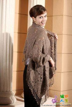 Versátil o modelo, pode ser casaco, mantô...