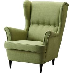 STRANDMON Wing chair, Skiftebo green (2 525 SEK) ❤ liked on Polyvore featuring home, furniture, chairs, accent chairs, chair, ikea and fotel