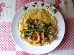 Il mio risotto giallo allo zafferano con ossibuchi e spolveratina di prezzemolo !!!