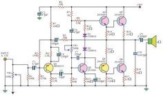 140 Watt Audio Amplifier Using 6 Transistors