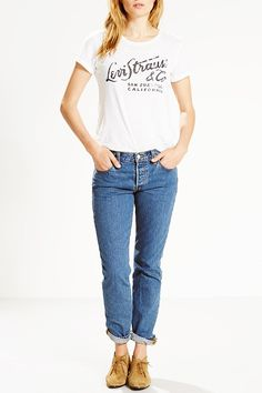 "LEVI'S 501 CT JEANS  The vintagey ""surf shack"" wash is our go-to look for spring. Other jeans need not apply.  Levi's ($55)"