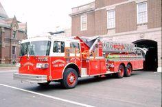 CAMBRIDGE, MA fire dept SLIDE: AT-1 19?? SUTPHEN