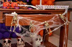 detalhes teias tema Halloween