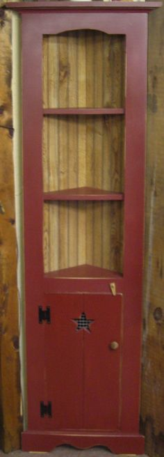 """Corner Hutch $199.99 Approximate size 70""""H x 18""""W x 8""""D Also available in black at the Cottage Gift Shop - Elmira, NY"""