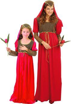 Costume di coppia principesse madre e figlia e fantastici costumi per  Carnevale di coppia o di 339b1f18c9d1