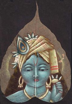 Buy exclusive handmade indian leaf paintings on www.peepleaf.com Radha Krishna Love, Lord Krishna, Mural Painting, Fabric Painting, Indian Paintings, Leaf Paintings, Dry Leaf Art, Pooja Room Design, Indian Folk Art