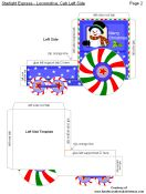 FREE Printabe Christmas 3-D Crafts - Starlight Express Train Set