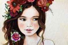 niña-con-flores-en-la-cabeza practicando el gracias y el por favor