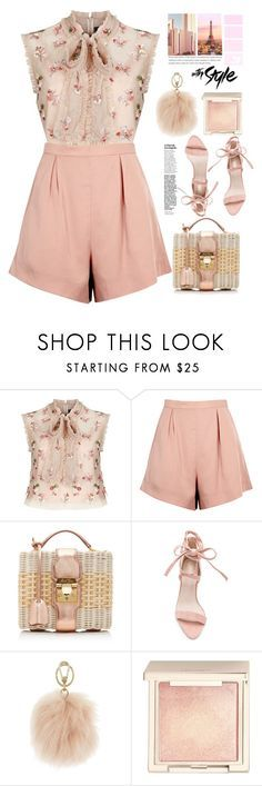 """""""romantichic style"""" by licethfashion ❤ liked on Polyvore featuring Needle & Thread, Finders Keepers, Mark Cross, Furla, Jouer and Ricardo"""