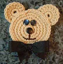 LEVEL 14 - crochet bear - add magnets, apply him to a tote or purse, or even clothing - cute bear!