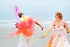 I would love to do this. Paint Powder Trash The Dress Session!