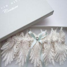 Eden wedding garter by Florrie Mitton