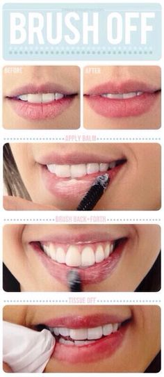 How To Get Softer Lips! im guessing you could use a toothbrush or clean mascara wand and vaseline