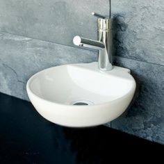 Kleines Gäste WC Design Keramik Waschbecken 14 Handwaschbecken Waschtisch Neu | eBay